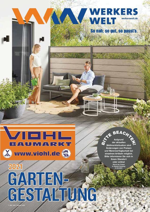 Titelseite Katalog WerkersWelt Gartengestalltung