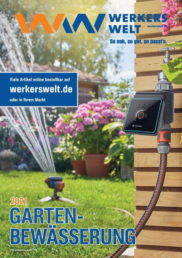 Titelbild Katalog WerkersWelt Gartenbewässerung 2021