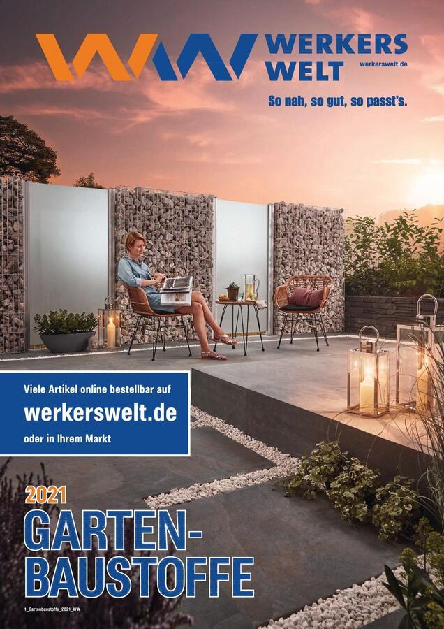 Titelseite Katalog WerkersWelt Gartenbaustoffe