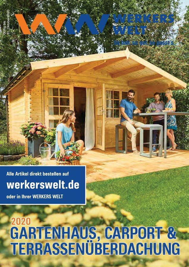 Titelbild Katalog WerkersWelt Gartenhäuser 2020