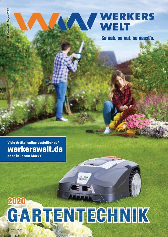 Titelbild Katalog WerkersWelt Gartentechnik 2020