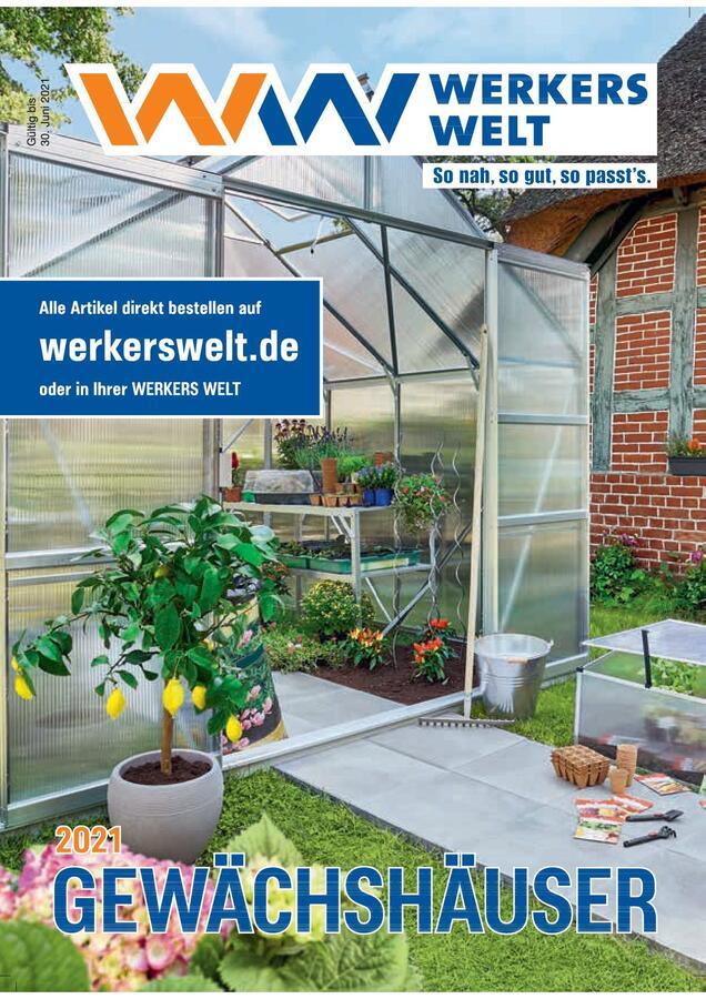Titelbild Katalog WerkersWelt Gewächshäuser 2021