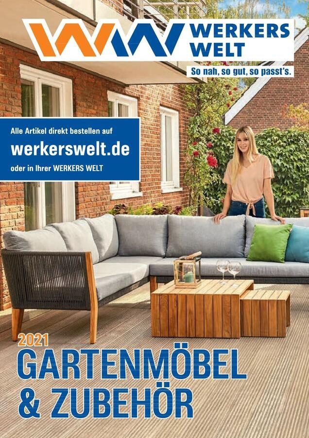 Titelseite  Katalog WerkersWelt Gartenmöbel 2021