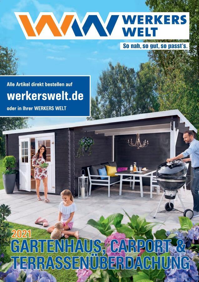 Titelseite WerkersWelt Gartenhäuser 2021