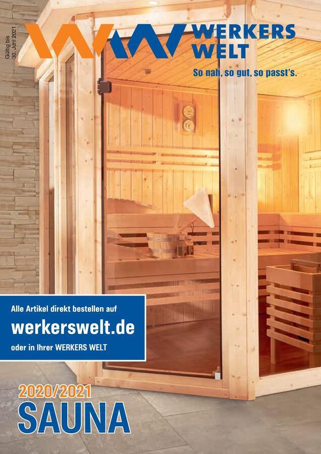 Titelbild WerkersWelt Sauna 2020/2021 Katalog